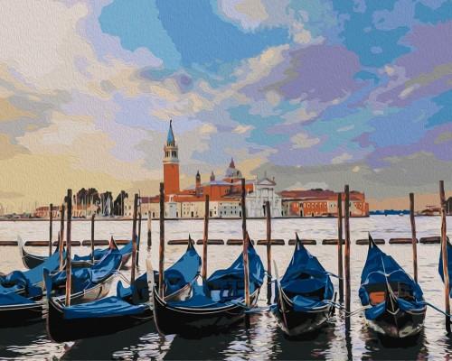 Картина по номерам (раскраска) 40х50 - Лодки на отдыхе ...